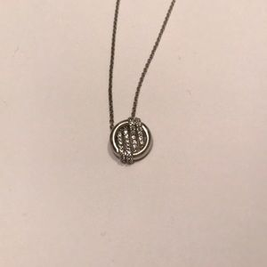 Sterling Silver Crystal Pendant on Chain